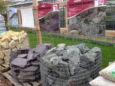 Scottish Craig Green Rockery, Blue Slate Rockery for gardens