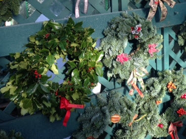 Hand made Christmas wreaths for doors and decorations