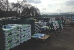 Compost Soil Gravel Slate at Woolpit Nurseries in Suffolk