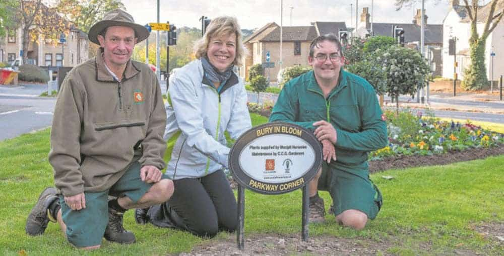 New floral bed by In Bloom, Woolpit Nurseries & CCG Gardeners