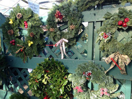 christmas wreaths handmade at Woolpit Nurseries