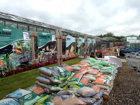 Garden compost, sand, gravel, slate, stones at Woolpit Nurseries